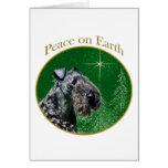 Kerry Blue Terrier Peace Card