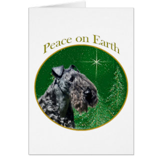 Kerry Blue Terrier Peace Greeting Card