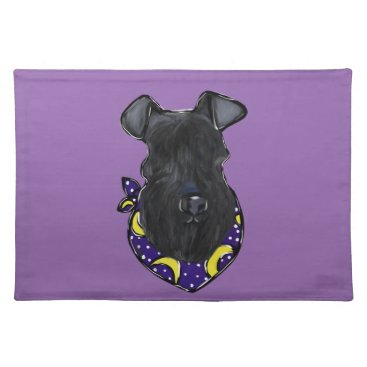 Halloween Themed Kerry Blue Terrier Placemat
