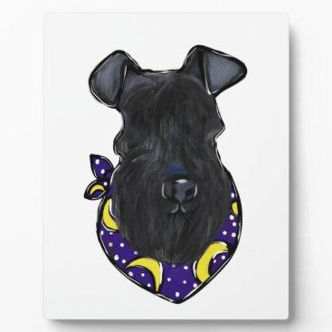 Halloween Themed Kerry Blue Terrier Plaque