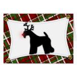 Kerry Blue Terrier Reindeer Christmas Card