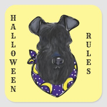 Halloween Themed Kerry Blue Terrier Square Sticker