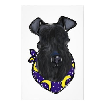 Halloween Themed Kerry Blue Terrier Stationery