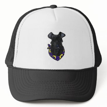 Halloween Themed Kerry Blue Terrier Trucker Hat