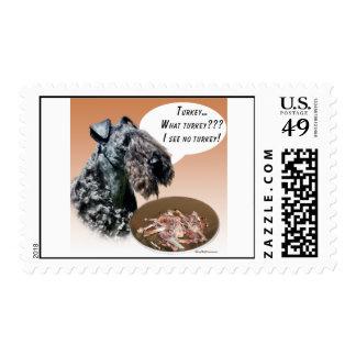 Kerry Blue Terrier Turkey Stamp
