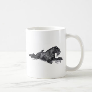 Kerry Blue Terrier with Bowl Coffee Mug