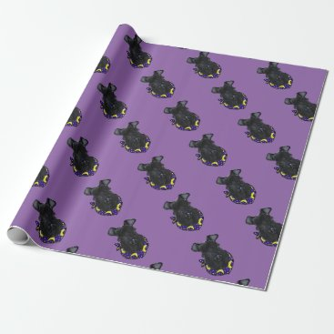 Halloween Themed Kerry Blue Terrier Wrapping Paper