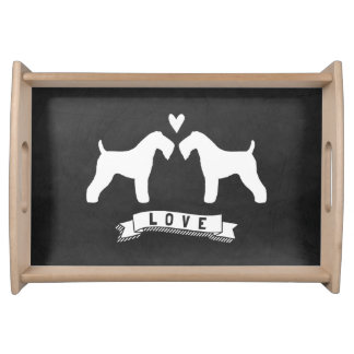 Kerry Blue Terriers Love Serving Tray