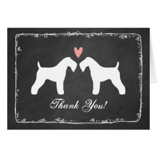 Kerry Blue Terriers Wedding Thank You Stationery Note Card