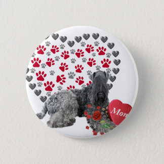 Kerry Blue Valentine For Mom Pinback Button