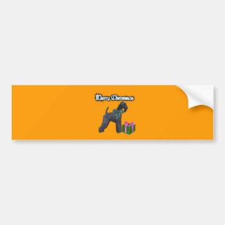 Kerryblue Terrier Christmas Bumper Sticker