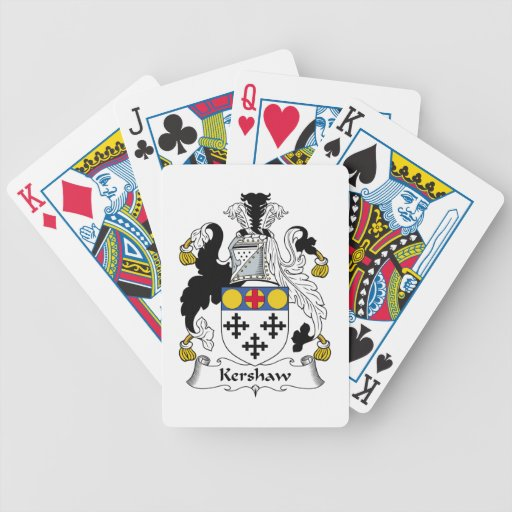Kershaw Family Crest Bicycle Playing Cards