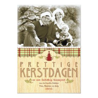 """Kerst foto wenskaart invitación 5"""" x 7"""""""