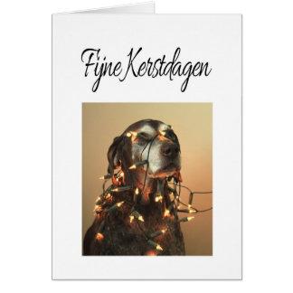 Kerstdagen de Fijne - navidad holandés Tarjeta De Felicitación