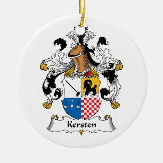 Kersten Family Crest Christmas Tree Ornaments