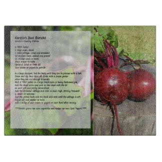 Kerstin's Beet Borscht Recipe Cutting Board