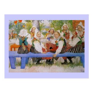 Kersti's Birthday 1909 Postcard