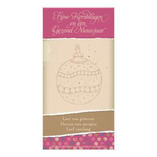 Kerstkaart met kerstbal card