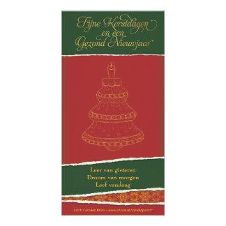Kerstkaart met kerstboom card