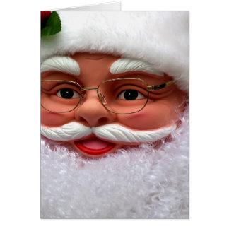 Kerstman resolvió el lach del gezellige tarjeta de felicitación