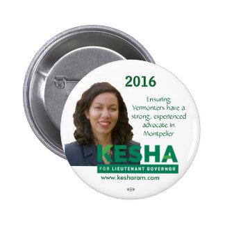 Kesha Ram VT Lt. Governor 2016 political button