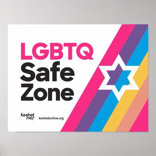 Keshet LGBTQ Safe Zone Poster