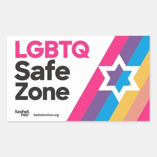 Keshet LGBTQ Safe Zone Stickers Modern Rectangular Sticker