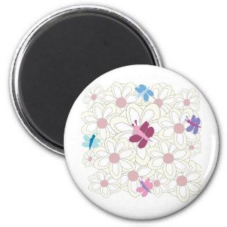 KESS floral Imán Redondo 5 Cm