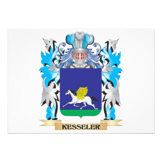Kesseler Coat of Arms - Family Crest Card