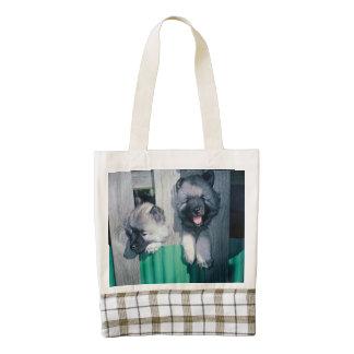 kesshond pups zazzle HEART tote bag
