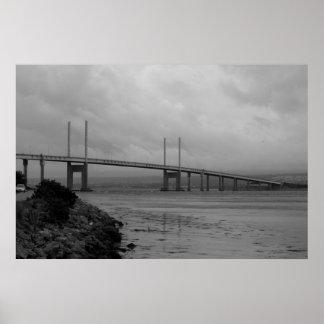 Kessock bridge in Scotland Poster