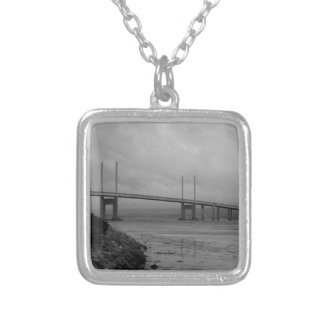Kessock bridge in Scotland Silver Plated Necklace