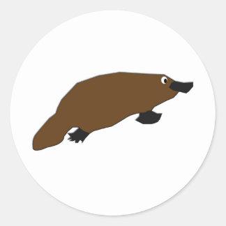 KESS's Platypus Round Stickers