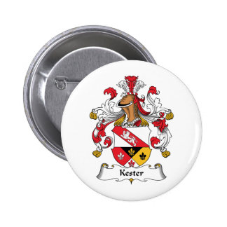 Kester Family Crest Pinback Button