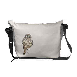 Kestral Bird Wildlife Animals Raptor Wetlands Messenger Bag