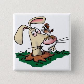 Kestrel and Rabbit Button