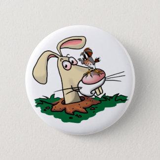Kestrel and Rabbit Pinback Button