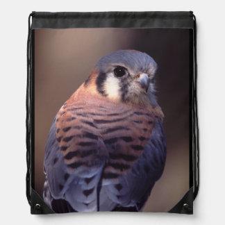 kestrel, falcon drawstring backpack