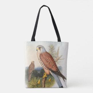 Kestrel Falcon John Gould Birds of Great Britain Tote Bag