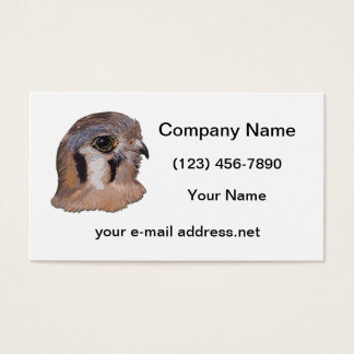 Kestrel Faux Embroidery Business Card