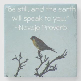 Kestrel Proverb Coaster