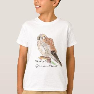 Kestrel Sparrow Hawk, Watercolor Bird T-Shirt