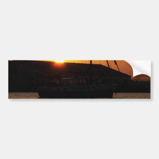 Ketch At Sunset Bumper Sticker