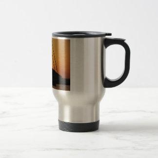 Ketch At Sunset Travel Mug