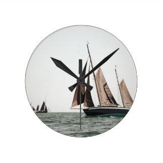 Ketch more under sails round wallclock