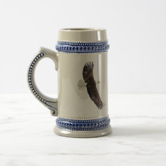 Ketchikan Alaska and a eagle share this stein. 18 Oz Beer Stein