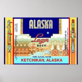 KETCHIKAN ALASKA LAGER BEER CAN DESIGN POSTER