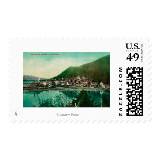 Ketchikan, Alaska Town View - First City in Postage