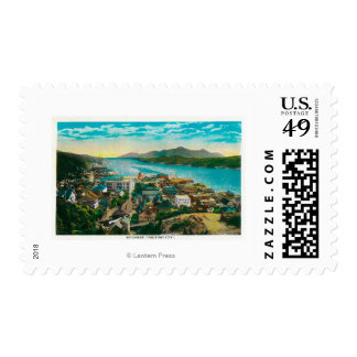 Ketchikan, Alaska Town View - The First City Postage