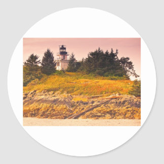 Ketchikan Lighthouse Round Stickers